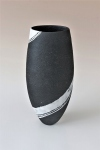 Black Vessel, White Spiral, H.45cm